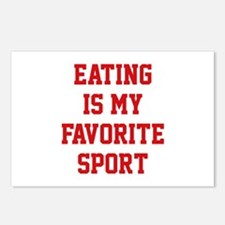 Eating Is My Favorite Sport Postcards (Package of