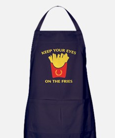Keep Your Eyes On The Fries Apron (dark)