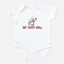 Eat Sleep Grill Infant Bodysuit