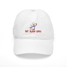 Eat Sleep Grill Baseball Cap