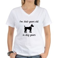 80 dog years black dog 1 T-Shirt