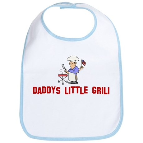 Daddys little grill Bib