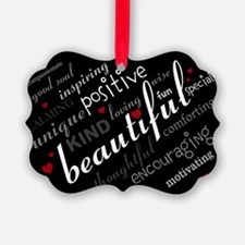 Positive Thinking Text Ornament