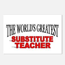 """The World's Greatest Substitute Teacher"" Postcard"