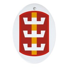 130th Engineer Brigade.png Ornament (Oval)