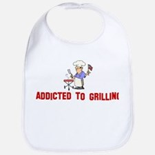 Addicted to Grilling Bib