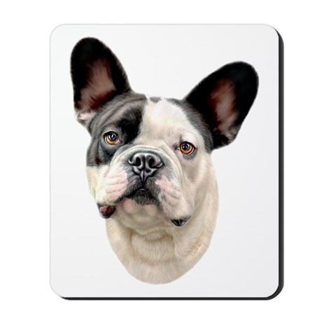 French Bulldog BW Bust Mousepad
