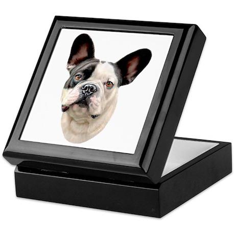 French Bulldog BW Bust Keepsake Box