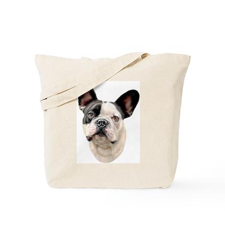 French Bulldog BW Bust Tote Bag