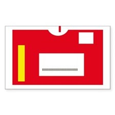Movie Rentals Rectangle Decal