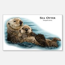 Sea Otter Rectangle Decal