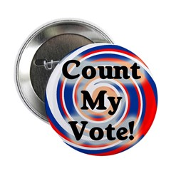 Patriotic Count My Vote Button