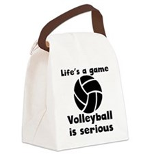 Volleyball Is Serious Canvas Lunch Bag
