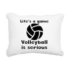 Volleyball Is Serious Rectangular Canvas Pillow