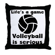 Volleyball Is Serious Throw Pillow