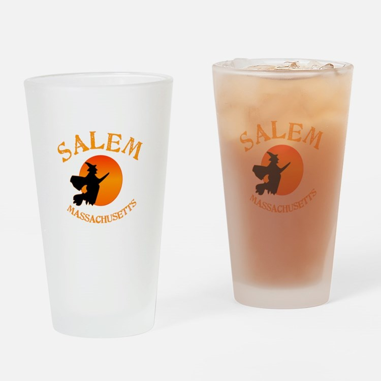 Salem Massachusetts Witch Drinking Glass