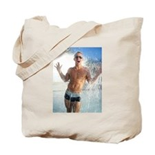 Sexy Guy Swimmer Tote Bag