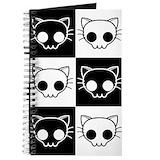 Skull cat Journals & Spiral Notebooks