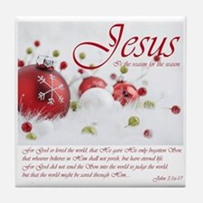 Jesus Is The Reason For The Season Tile Coaster