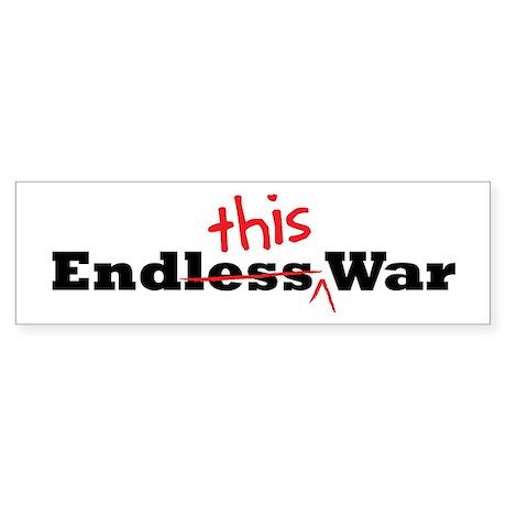 End This War Bumper Sticker