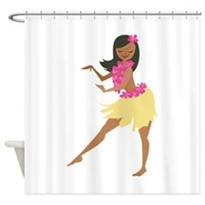 Hula Girl Shower Curtain