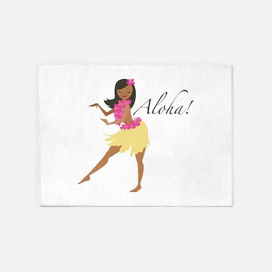 Aloha Girl 5'x7'Area Rug