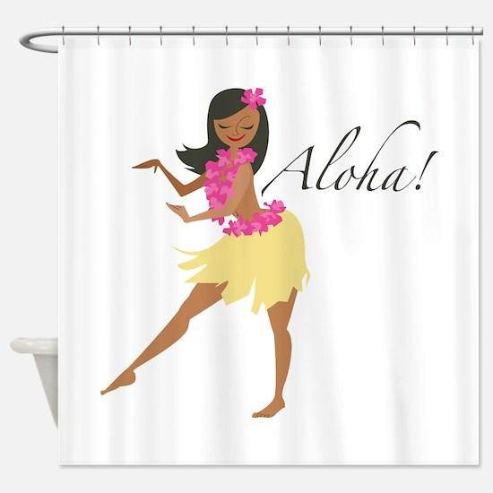 Aloha Girl Shower Curtain