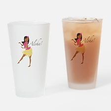 Aloha Girl Drinking Glass