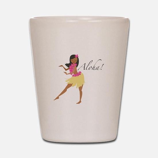 Aloha Girl Shot Glass