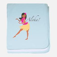 Aloha Girl baby blanket