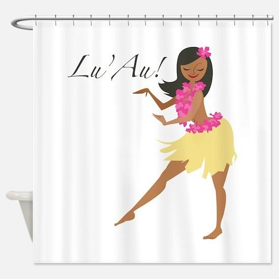 Lu Au Girl Shower Curtain