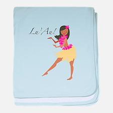 Lu Au Girl baby blanket