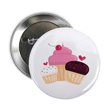 """Cupcakes 2.25"""" Button (10 pack)"""