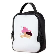 Cupcakes Neoprene Lunch Bag
