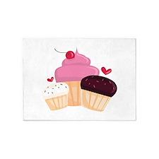 Cupcakes 5'x7'Area Rug