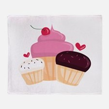 Cupcakes Throw Blanket