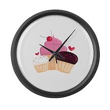 Cupcakes Large Wall Clock