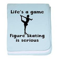 Figure Skating Is Serious baby blanket