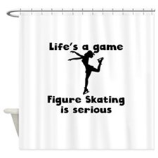 Figure Skating Is Serious Shower Curtain