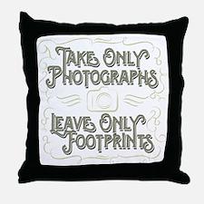 Take Only Photographs Throw Pillow