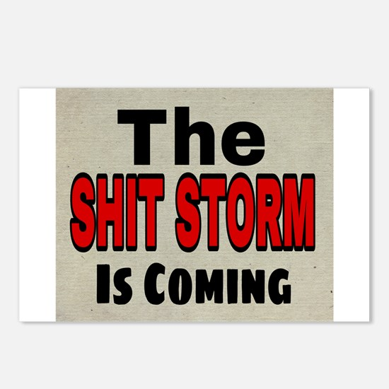 The Shit Storm Is Coming Postcards (Package of 8)