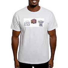 DOODLE TRIO / DOODLES ROCK Ash Grey T-Shirt