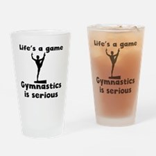 Gymnastics Is Serious Drinking Glass