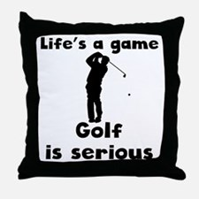 Golf Is Serious Throw Pillow