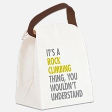Rock Climbing Thing Canvas Lunch Bag
