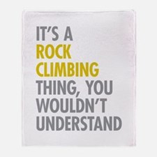 Rock Climbing Thing Throw Blanket