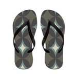 Retro 60's Diamond Geometric Flip Flops