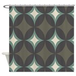 Retro 60's Diamond Geometric Shower Curtain