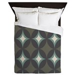 Retro 60's Diamond Geometric Queen Duvet