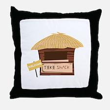 Tiki Shack Welcome Throw Pillow
